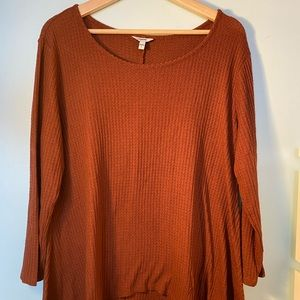 Sonoma ribbed long sleeve top